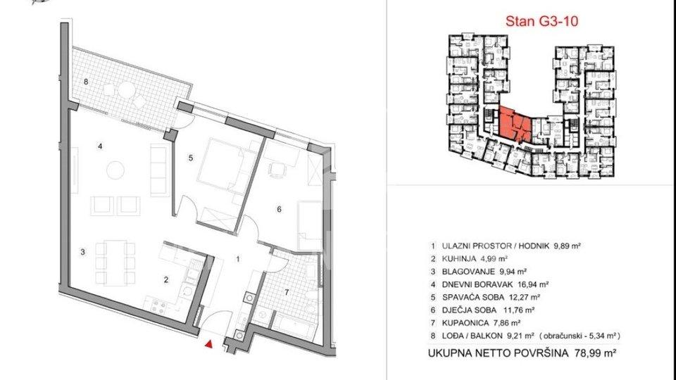 Wohnung, 78 m2, Verkauf, Varaždin - Vilka Novaka