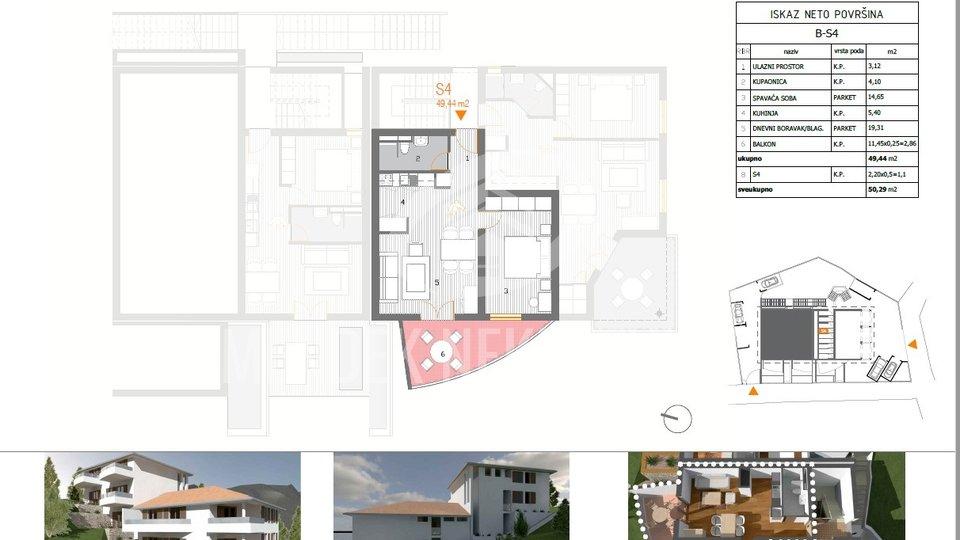Holiday Apartment, 50 m2, For Sale, Primošten